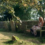 Jane Rusbridge in Bosham churchyard photo credit: Natalie Miller